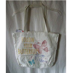 NWT - Follow Your Butterflies Tote Bag